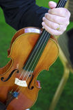 Detail der Violine Lizenzfreie Stockfotos
