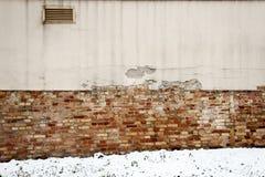 Detail der Wand und des Schnees Lizenzfreie Stockbilder