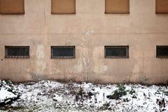Detail der Wand und des Schnees Stockfoto