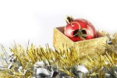Detail der Weihnachtskugeln Stockfotografie