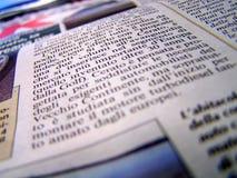 Detail der Zeitung Stockbild