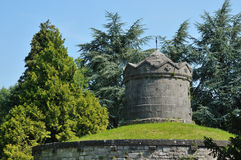 Detail der Zitadelle in Dinant, Wallonie, Belgien Lizenzfreie Stockbilder