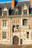 Detail des Äußeren des Chateaus de Blois, Frankreich Stockfotografie