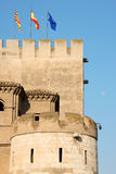 Detail des Aljaferia Palastes in Zaragoza, Spanien Lizenzfreies Stockfoto