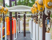 Detail des allgemeinen Spielplatzes Stockbild