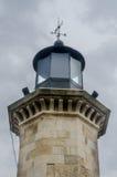 Detail des alten Leuchtturmes nannte Farul Genovez (Genovese Leuchtturm) Stockfoto
