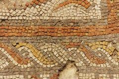 Detail des alten römischen Mosaiks lizenzfreie stockfotos
