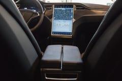 Detail des Autos Tesla-Modells S in Mailand, Italien Stockfotografie