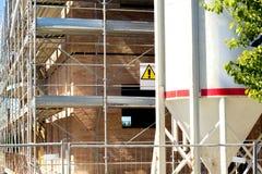 Detail des Baus des Hauses Lizenzfreies Stockfoto