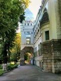 Detail des Bibliotheksgebäudes Chernihiv, Ukraine lizenzfreies stockbild