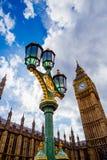 Detail des Big Ben-Glockenturms und des Westminster-Gebäudes Stockbild