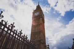 Detail des Big Ben-Glockenturms und des Westminster-Gebäudes Lizenzfreies Stockbild