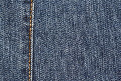 Detail des blauen Baumwollstoffs Lizenzfreies Stockfoto