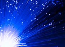 Detail des blauen wachsenden Bündels Glasfaserhintergrundes, schnell lizenzfreie stockfotos