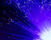 Detail des blauen wachsenden Bündels Glasfaserhintergrundes, schnell lizenzfreie stockfotografie