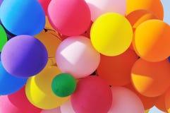 Detail des Blockes der Partyballone Lizenzfreie Stockbilder