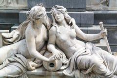 Detail des Brunnens vor dem Parlament, Wien Lizenzfreies Stockbild
