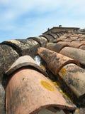 Detail des Dachs in Provence, Frankreich lizenzfreie stockbilder