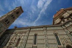 Detail des Duomo Santa Maria del Fiore und Baptistery von San Giovanni, in Firenze lizenzfreie stockbilder