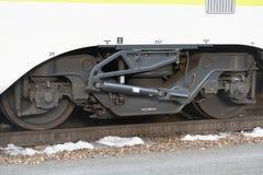 Detail des Eisenbahnautos Stockfoto