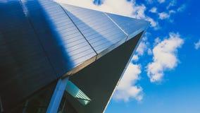 Detail des Energie-Theaters Bord Gais mit hellem Reflexion und Stockfotografie