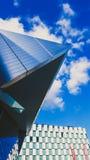 Detail des Energie-Theaters Bord Gais mit hellem Reflexion und Lizenzfreie Stockbilder