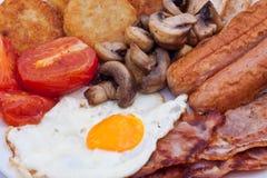 Detail des englischen Frühstücks Stockfotografie