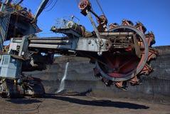 Detail des Exkavators Stockfotografie
