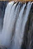Detail des fallenden Wassers Victoria Falls Nahaufnahme Nationalpark Mosi-oa-Tunya und Welterbestätte Zambiya zimbabwe Lizenzfreie Stockfotografie