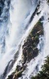 Detail des fallenden Wassers Victoria Falls Nahaufnahme Nationalpark Mosi-oa-Tunya und Welterbestätte Zambiya zimbabwe Stockfoto
