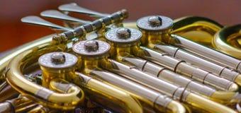 Detail des französischen Horns stockfoto