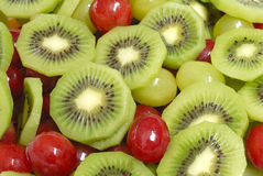 Detail des Fruchtsalates Stockfotografie