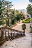 Detail des Gartens mit Treppe im Landhaus d'Este, Tivoli, es Stockbild