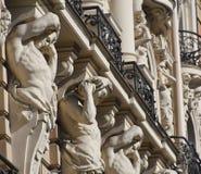 Detail des Gebäudes in Riga Stockbilder