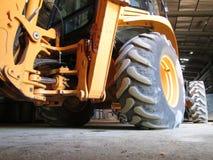 Detail des gelben Traktors Lizenzfreie Stockfotos