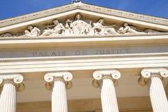 Detail des Gerichtes von Marseille, Frankreich stockfotos
