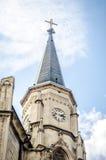 Detail des Glockenturms vom Heiligen Michael Gothic Church in Klausenburg Napoca Stockfotografie