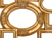 Detail des goldenen Rahmens auf Weiß Lizenzfreies Stockbild
