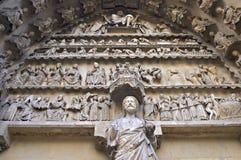 Detail des gotischen Portals stockfotografie