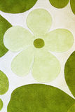Detail des grünen Teppichs Stockfotografie