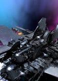 Detail des großen Raumschiffes Stockbild