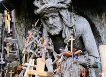 Detail des Hügels der Kreuze stockbild