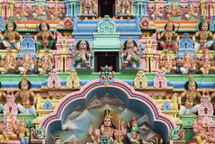 Detail des hinduistischen Tempels in Singapur Lizenzfreies Stockfoto