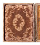 Detail des historischen Daguerreotypefalles Stockfotografie