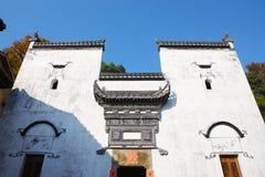 Detail des historischen Gebäudes in Jiangwan-Dorf Stockfoto