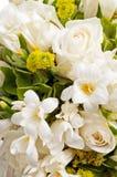 Detail des Hochzeitsblumenstraußes Stockfotos
