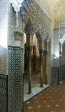 Detail des Hofes der Löwen, Alhambra Granada, Spanien Stockfoto