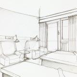 Detail des Hotelzimmers Stockfotos