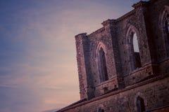 Detail des Innenraums von Abtei Sans Galgano, Toskana Lizenzfreie Stockbilder