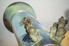 Detail des Kanonenrohrs Stockbild